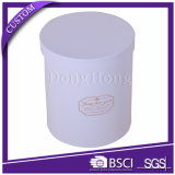 Boîte en bois recyclée en papier recyclé en forme ronde