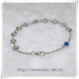 Fabriek Korting Hot Sale Religieuze glazen kralen rozenkrans armbanden (IO-CB020)