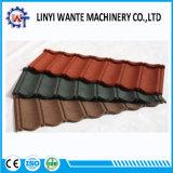 Telhas de telhado de alumínio Pedra-Revestidas das telhas de telhadura do metal de Brown do material de construção