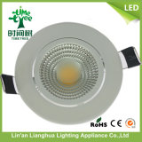 9W Lampe en aluminium haute puissance Lampe LED COB Down Light
