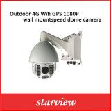 IP al aire libre IR PTZ del montaje de la pared de 4G WiFi GPS 1080P