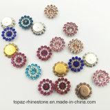 HK Topaz Swaro lâche de gros cristaux de 9 mm de Réglage de griffe de fleurs à coudre sur les perles de verre (TP 9mm sapphire ronde)