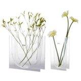 Commerce de gros Hot Sale Vase d'acrylique transparente en plastique