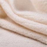 Tessuto delle lane della lavata della macchina di 100% per l'autunno nel bianco