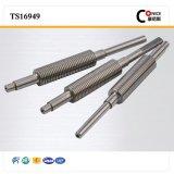 CNC, der kohlenstoffarmer Stahl-Welle maschinell bearbeitet