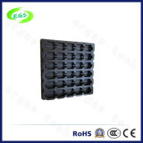 De elektronische Plastic ESD Dienbladen pasten hard het Zwarte Dienblad van de Blaar aan