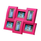 Plastic Multi Openning Mini Curved Wall Photo Frame