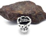 Punky de acero Titanium de la vendimia del anillo del cráneo de la personalidad