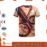 T-shirt fait sur commande d'impression du coton 3D des plus défunts hommes de modèle plein