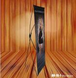 X Araña Stand Display Banner Stand con fibra de carbono polos
