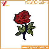 カスタム衣類のラベルの花の刺繍パッチ、編まれたバッジ(YB-HR-393)