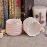 Contenitore di ceramica della candela con la placcatura della perla per la decorazione del giardino