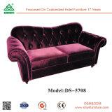 Conjunto de móveis de lobby do hotel de 5 estrelas Lounge Sofá secional de couro Faux Leather