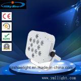 El partido portable del laser del disco de la etapa de la batería ULTRAVIOLETA profesional de la iluminación 6pcsx18W RGBWA enciende la iluminación teledirigida de la radio LED
