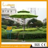 Base de mármore de cor verde estável fácil instalação de vento mobiliário de jardim exterior Parasol Beach Guarda-sol