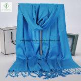 Twill-Baumwollebenen-Schal mit Troddel-Dame Fashion Scarf