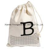 昇進のカスタマイズされた100%の自然な有機性綿のドローストリング袋袋