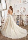 2017年のAラインの水晶花嫁のウェディングドレスWd510