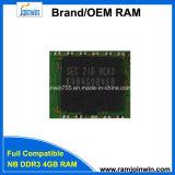 Ecc van de Spaanders van Ett de Originele niet Laptop RAM van het Geheugen 4GB DDR3