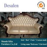 Sofá real del cuero del estilo de la nueva llegada para los muebles caseros (196#)