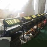 De openlucht 4in1 LEIDENE DMX 36X10W RGBW Wasmachine van de Muur