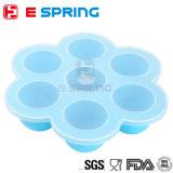 Almacenes de silicona para bebés de alimentos, alimentos para niños 7cups Congelador Contenedores
