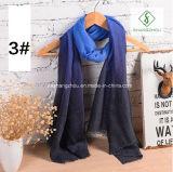 2017 Hot Sale Fashion Lady foulard en coton avec gradient Usine de couleur