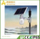 hohe Leistungsfähigkeit 9W Monocrtystalline Silikon alles in einem LED-Solargarten-Licht mit Zeit-Steuerung
