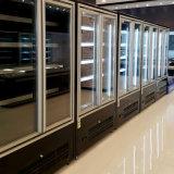 En Negro Congelador 2 Cristal puerta del refrigerador exportados a Arabia Saudita