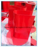 Recipiente de aço do cerco da tampa vermelha revestida do pó