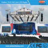 Im Freien P4.81 farbenreicher Bildschirm der Miete-LED für Stadium