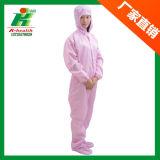 청정실 노동자를 위한 정전기 방지 작업복 의류 의복