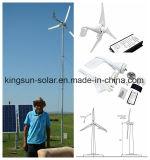 Generador de viento, el aerogenerador, calle la luz solar