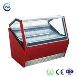 Italienischer Gelato Eiscreme-Kühlraum-/Einzeln-Temperatur weicher Eiscreme-Schaukasten (QP-BB-10)