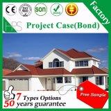 Fornecedor chinês materiais Buliding telhas revestidas a pedra/Folhas de coberturas metálicas