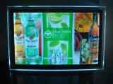 A3 scelgono la casella chiara di pubblicità sottile della visualizzazione a cristallo acrilico laterale LED (DY-CL)
