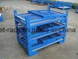 Puder beschichteter kundenspezifischer Ineinander greifen-Kasten-Stahlbehälter-Kasten