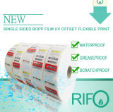 Etiquetas engomadas piezosensibles BOPP blanco para MSDS imprimible flexible RoHS