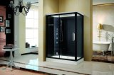 Завершите комнату ливня пара Sauna с черными доской и стеклом (K9750)
