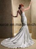 fora dos vestidos de casamento frisados do vestido nupcial da praia do ombro