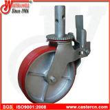 Lieferanten-Qualitäts-Gestell-Fußrolle mit 8 Rad des Zoll-TPU