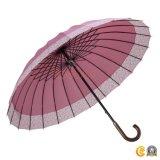 女性または女性のための大きい24K長く安い日曜日のまっすぐな傘