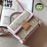 여자 T118를 위한 최신 Fashion Box Handbag Straw 작풍 숙녀 어깨에 매는 가방