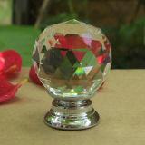 De Knop van het Meubilair van het Handvat van de Knop van de Keukenkast van het Glas van het Kristal van de Afzet van de fabriek (CK 001)