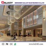 Transparente de interior fijo P3.75/P5/P7.5/P10/P16/P20/vidrio/pantalla de visualización video de la ventana/de la cortina LED/muestra/pared para hacer publicidad