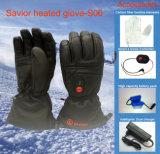 Овчина франтовских перчаток нагрева электрическим током кожаный с толщиными перчатками лыжи термально задействовать
