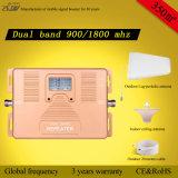 De de dubbele Spanningsverhoger/Repeater van het Signaal van de Telefoon van de Cel van de Band 2g 4G 900/1800MHz