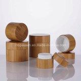 Todos os cosméticos de bambu com jarro de recipiente interior de plástico (PPC vaso-BS-042)