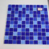 Azul, onda, patrón, vidrio, mosaico, azulejo, piscina, edificio