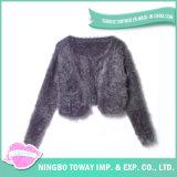 Camisola Hand Knitted de Vestuário das Mulheres do Algodão da Tela do Fio